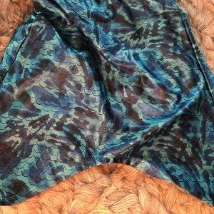 Justice blue mermaid skirt child large